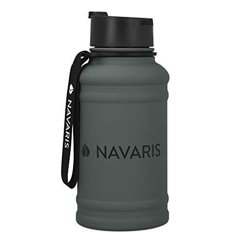 Navaris Botella de Agua de Acero Inoxidable -...