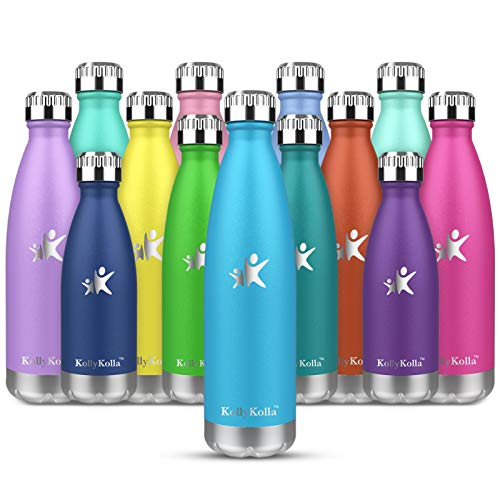 KollyKolla Botella de Agua Acero Inoxidable, Termo...