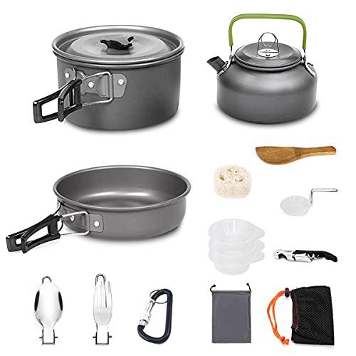 AUTOPkio 15Pcs Kit de Utensilios Cocina Camping,...