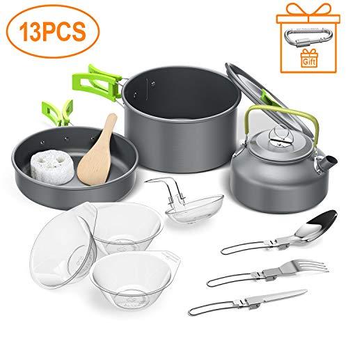 Igrome Utensilios Cocina Camping,13PCS Camping Kit...