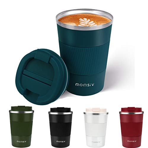 MOMSIV Taza de café, Termo Cafe 380ml, Taza Termo...