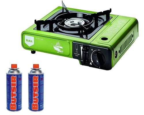 ELMA- Promoción Pack camping gas DUAL verde + 2...