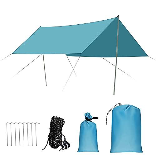 Toldo Camping Impermeable, 3x3M Ripstop Rain Tarp...