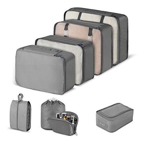 CISHANJIA Packing Cubes, 8 Set Travel Organizer...