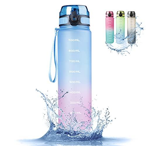 RaMokey Botella de Agua Deportiva 1l, Botella Agua...