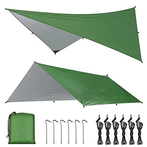 OTraki Toldo Camping Impermeable 3M×4M Rain Tarp...