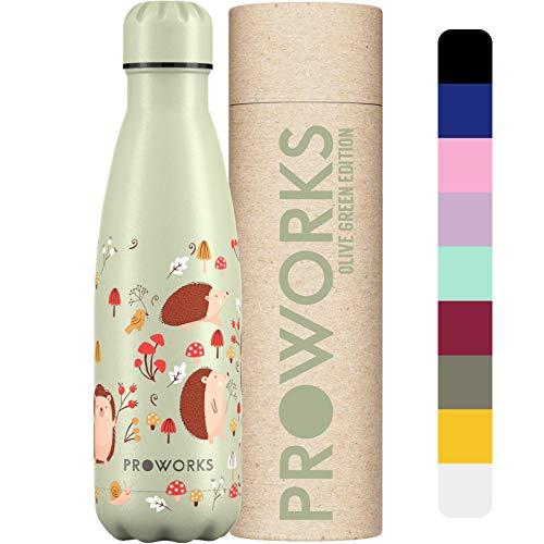 Proworks Botellas de Agua de Acero Inoxidable |...