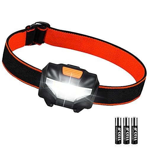 Linterna Cabeza, Linterna Frontal LED 3 Modos de...
