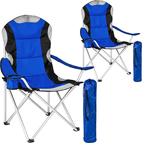 TecTake Silla de Camping Plegable + Portabebidas +...