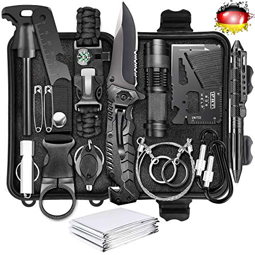 Kit de supervivencia LC-dolida 15 en 1, kit de...