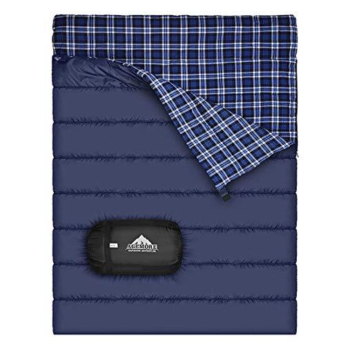 Saco de dormir doble de la franela del algodón...
