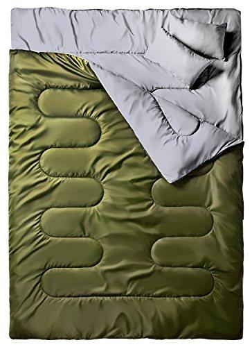 Ohuhu Saco de Dormir Doble Enorme con 2 Almohadas...