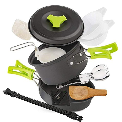 EXTSUD Utensilios Cocina Camping para 1-2 Personas...