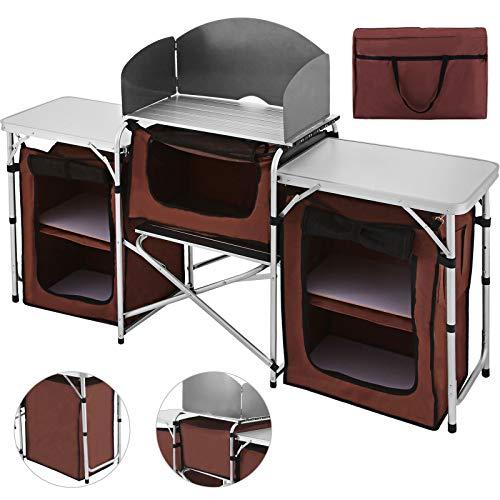 Happybuy Mesa de camping portátil multifuncional...