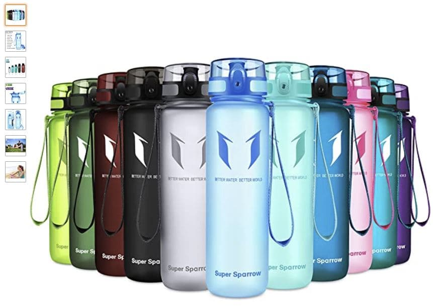 Ver botella de agua reutilizable Super Sparrow