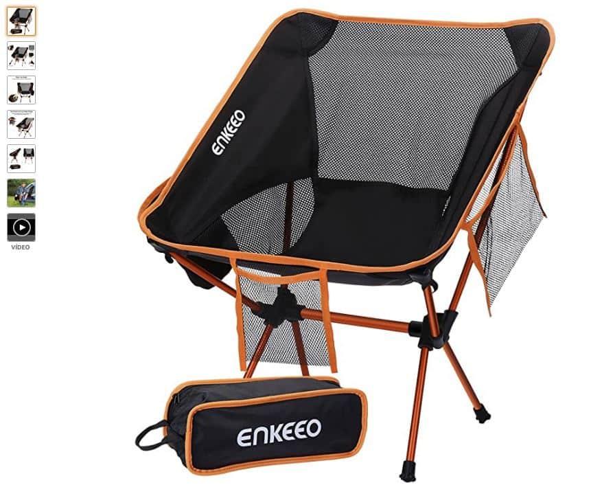 Ver silla plegable camping ENKEEO
