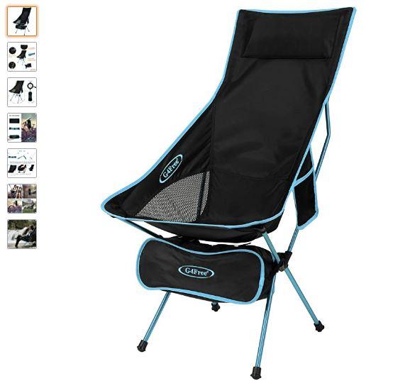 Ver silla plegable camping G4Free