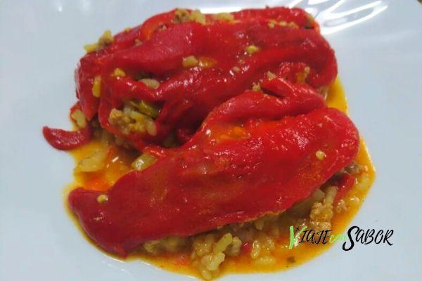 Receta arroz con pimientos asados